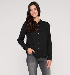 Sklep internetowy C&A | Bluzka szyfonowa, kolor:  czarny | Dobra jakość w niskiej cenie