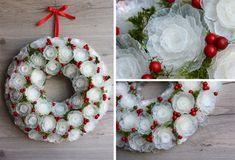 Keratívny DIY nápad a návod, ako premeniť plastový obal na vajíčka na mrazivý vianočný veniec, ktorý do vášho domova zaručene prinesie čaro zimy! Vianoce