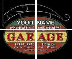 FlowerBeads Car Metal Signs Esso Poster Plaques Vintage Garage Man Cave Bar Home Decorations Craft Iron Wall Painting