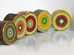 Painted Logs.