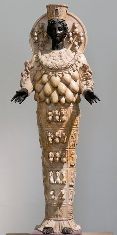"""Great Mother Goddess"" Artemis is also mentioned in the New Testament (Acts, 19). Extremely popular in the ancient world; and now housed in the Archaelogical Museum of Tripoli."