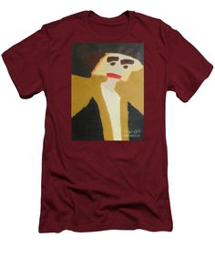Patrick Francis Cardinal Red Designer Slim Fit T-Shirt featuring the painting The Graduate 2014 by Patrick Francis