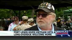 """At long last, Vietnam veterans are receiving a """"welcome home"""" ceremony at Fort Lewis near Seattle."""