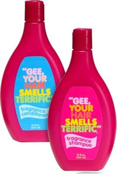 Gee Your Hair Smells Terrific--remember this shampoo from the 1970's and 1980's?  It is a popular stocking stuffer or gift item sold from The Vermont Country Store--can order it online..