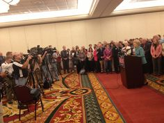 Phyllis declares unwavering support for Todd Akin at a press conference with pastors from across Missouri.