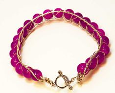 #Magenta Bracelet #wirewrapped bracelet @lindab142 #cpromo