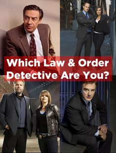 """Which """"Law And Order"""" Detective Are You"""