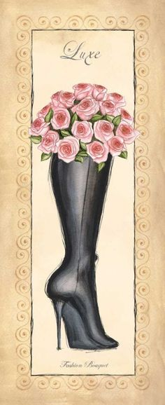 Fashion Bouquet I by Laliberte, Andrea Canvas Frame, Canvas Art, Framed Art Prints, Fine Art Prints, Fashion Figures, Affordable Wall Art, Cool Posters, Print Pictures, Fashion Prints