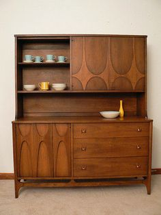 """Broyhill Brasilia 54"""" Credenza and Hutch Available Separately 