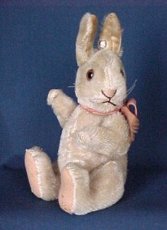 steiff bunny.  -Aww, this reminds me of a book I had as a child....really cute! :)