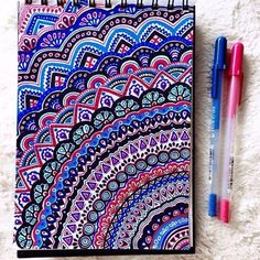 Drawing Doodles Ideas 40 Simple and Easy Doodle Art Ideas to Try - Gone are those days when doodling was only for the kids. If you want to touch your artistic side, these simple and easy doodle art ideas to try. Easy Doodle Art, Doodle Art Drawing, Art Drawings, Drawing Ideas, Mandala Nature, Image Mandala, Dibujos Zentangle Art, Pen Doodles, Sharpie Doodles