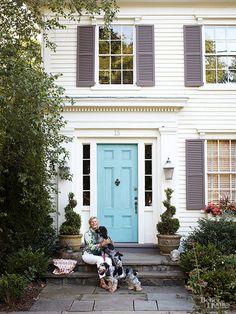 17 must-see blue front doors: http://www.bhg.com/home-improvement/door/exterior/blue-front-doors/?socsrc=bhgpin051215bluefrontdoors