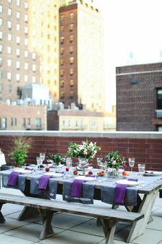 A Manhattan Rooftop Engagement Party from Clare Langan |   Read more - http://www.stylemepretty.com/living/2013/08/02/a-manhattan-rooftop-engagement-party-from-clare-langan/
