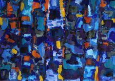 "Saatchi Art Artist Jacek lasa; Painting, ""Blue abstract b1"" #art"