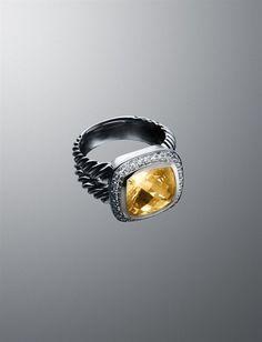 David Yurman Citrine Ring  My baby's birth stone (and Mine too)