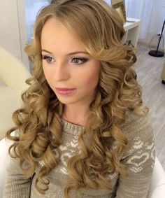 Homecoming Long Curly Hairstyles 2016