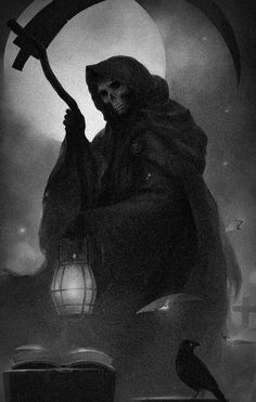 ᙢy dark Ꮚorld of Skulls and dark art -'Everyday' is Death in small doses ~No Porn or gore~ Grim Reaper Art, Grim Reaper Tattoo, Don't Fear The Reaper, Dark Fantasy Art, Corvo Tattoo, Death Art, Bild Tattoos, Arte Obscura, Dark Pictures