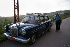 A classic Beirut Taxi and his owner outside of #Beirut