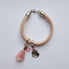 Roze wikkelarmband