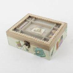 ΚΟΥΤΙ ΞΥΛ ΡΑΠΤΙΚΗΣ + ΥΦΑΣΜΑ +ΓΥΑΛΙ 22.5X21X8  (MDF/POLYESTER) Decorative Boxes, Home Decor, Woodwind Instrument, Decoration Home, Room Decor, Interior Decorating