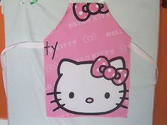 Childrens #microfibre #apron. #hello kitty.  age 2-3.,  View more on the LINK: 	http://www.zeppy.io/product/gb/2/151946874088/
