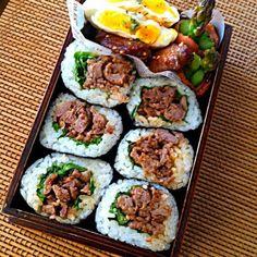 morinnorinちゃんの肉太巻きと、手羽もマネッ子w あんま、うまくできなかったー アスパラベーコンゎ、焦げるし けど、晴れたから良かったァ〜´◡` でゎ。また - 266件のもぐもぐ - 長男体育祭〜弁to.このアスパラ、折れるだろうw!(*≧m≦)=3 by いよこ Bento Recipes, Cooking Recipes, Healthy Recipes, Bento Ideas, Plate Lunch, Kimbap, Japanese Lunch, Aesthetic Food, Easy Meals