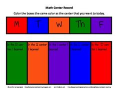 Daily 5 Math is quickly coming on the scene as a great organizer for independent math centers.  In this file you will find 2 different center plann...
