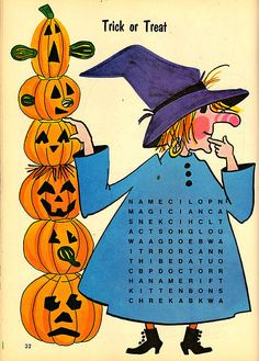 1978 See-A-Word Halloween Puzzle