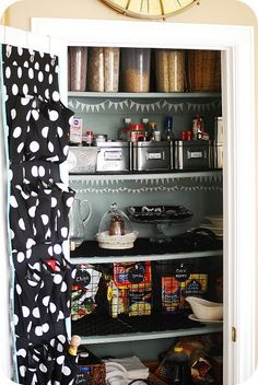 For those of you with small kitchens...a great way to free up drawer space by using an over the door organizer for your foil, saran, baggies and more! If you dont have a pantry just cut to size for the cabinet drawers!