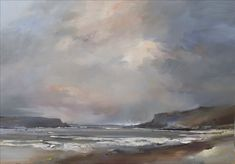 The Day of the Storm by David Atkins Sky Painting, Abstract Landscape Painting, Seascape Paintings, Watercolor Landscape, Landscape Art, Landscape Paintings, Oil Paintings, Scenery Paintings, Watercolor Horse
