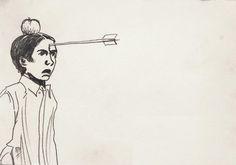"""Mariusz Tarkawian, rysunek z cyklu """"366 obrotów"""", 2013 (rysunki powstają w ramach projektu realizowanego przez Galerię Labirynt: MARIUSZ TARKAWIAN - 366 OBROTÓW http://366.labirynt.com/)   Dofinansowano ze środków Ministra Kultury i Dziedzictwa Narodowego"""