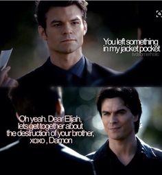 TVD Elijah and Damon