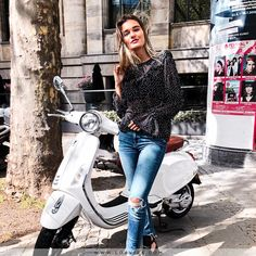 """61f8fbc6f23966 LOAVIES.COM on Instagram  """"We d be touring all day long with this sunny  weather if it s up to us! 🛵 Gorgeous  leaendys is wearing the Blinded By  Dots top"""