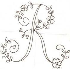 bordar letras a mano ile ilgili görsel sonucu Embroidery Alphabet, Embroidery Monogram, Hand Embroidery Patterns, Ribbon Embroidery, How To Embroider Letters, Quilling Letters, Monogram Alphabet, Embroidery Needles, Primitive Crafts
