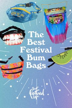 The Best Festival Bum Bags [Updated 2021] - That Festival Life Festival Wear, Festival Fashion, Bum Bags, Favourite Festival, Ethnic Print, Green Glitter, Bubblegum Pink, Culture Travel, Small Bags