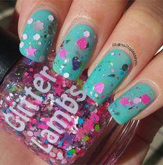"Glitter Lambs ""My Heart Belongs To Jesus"" glitter topper nail polish. #nails #indiepolish #glitterlambs #glitterlambsnailpolish"