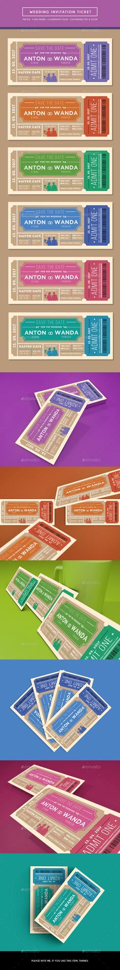 Wedding Invitation Ticket - Weddings Cards & Invites
