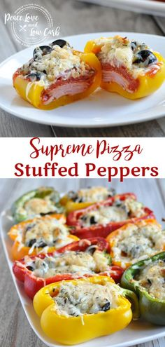 These Keto Supreme Pizza Stuffed Peppers are a simple and delicious way to still enjoy pizza while sticking to your healthy low carb lifestyle. via dinner stuffed peppers Keto Supreme Pizza Stuffed Peppers Ketogenic Recipes, Diet Recipes, Cooking Recipes, Healthy Recipes, Ketogenic Diet, Recipies, Shrimp Recipes, Dessert Recipes, Crockpot Recipes
