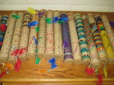 TeachKidsArt: Chilean Rain Sticks (great instrument to use in an activity, as I kid I would play with one of these for hours -Dalyce)