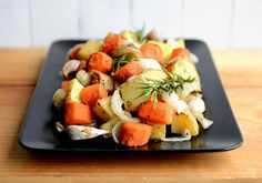 fat free roasted potatoes, carrots, and onions.  Yum