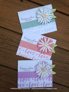 GIRLplusPAPER: CTMH Flower Market Crazy Daisy Happy Wishes Cards #CTMHFlowerMarket