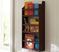 Art/Wall Decor - Hayden Espresso Magazine Rack   Pottery Barn Kids - espresso magazine rack, espresso book rack, kids book rack,