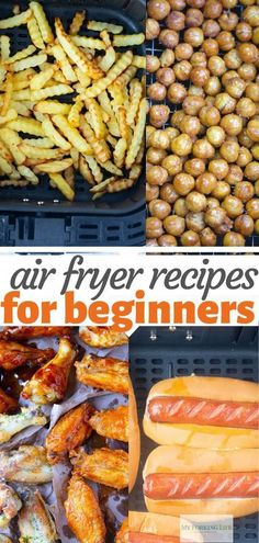 These Air Fryer Recipes are easy and perfect for beginners. They are simple and easy enough to help you learn and master your air fryer recipes. # 7 Easy Air Fryer Recipes for Beginners Air Fryer Oven Recipes, Air Frier Recipes, Air Fryer Dinner Recipes, Recipes For Airfryer, Air Fryer Chicken Recipes, Power Air Fryer Recipes, Air Fryer Recipes Vegetables, Healthy Vegetables, Air Fried Food