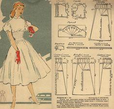 Dress Making Patterns, Vintage Dress Patterns, Barbie Patterns, Diy Clothing, Clothing Patterns, Fashion Sewing, Diy Fashion, Patron Vintage, Pattern Drafting