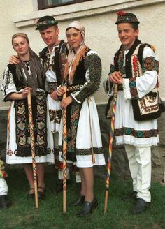 Traditional dress from Mures county, Transylvania