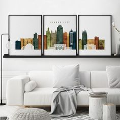 Dallas set prints, Dallas prints wall art set of Triptych of Dallas, set of posters, 3 piece wall art, ArtPrintsVicky World Map Wall Art, World Map Poster, Map Posters, Travel Posters, 3 Piece Wall Art, Wall Art Sets, Large Wall Art, Wall Art Prints, Kansas City Skyline