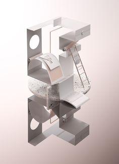 Selection by Fedrigoni on Behance 3d Design, Icon Design, Projection Installation, Scandinavian Chairs, Fourth World, Behance, Environment Concept Art, Cinema 4d, Cartoon Styles