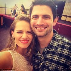 'This handsome buggar...' Bethany Joy, who played Haley James Scott, couldn't resist cosying up to former onscreen husband James Lafferty for a sweet selfie