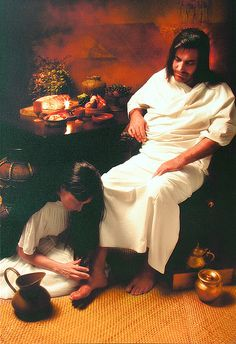 Mary Anoints Jesus feet for burial -Lionel Phillips  Monday in Holy Week