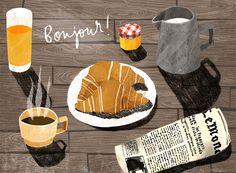 Bonjour! - essillustration texture spspsp